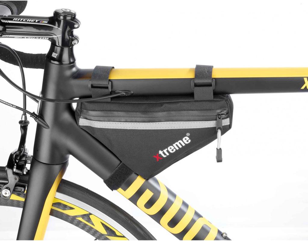 a small bag leaves more room for bottles - Mountain Bike Frame Bag